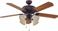 Craftmade MAN52ABZ5C4 Manor Aged Bronze Brushed 52  Ceiling Fan