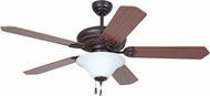 Craftmade MAN52OBG5C1 Manor Oiled Bronze Gilded 52  Home Ceiling Fan