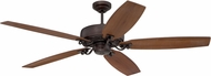 Craftmade PAT64ABZC5 Patterson Aged Bronze Brushed Halogen 64  Home Ceiling Fan