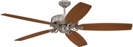 Craftmade PAT64BNK5 Patterson Brushed Polished Nickel Halogen 64  Ceiling Fan