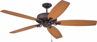 Craftmade PAT64OBG5 Patterson Oiled Bronze Gilded Halogen 64  Home Ceiling Fan