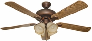 Craftmade PD52ABZ5C4 Piedmont Aged Bronze Brushed Fluorescent 52  Ceiling Fan