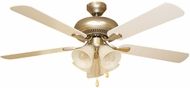 Craftmade PD52BP5C4 Piedmont Brushed Pewter Fluorescent 52  Home Ceiling Fan