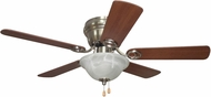 Craftmade WC42BNK5C1 Wyman Brushed Polished Nickel 42  Home Ceiling Fan