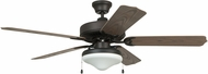 Craftmade WOD52ABZ5C All Weather Aged Bronze Brushed Outdoor 52 Home Ceiling Fan