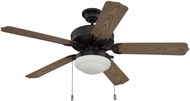 Craftmade WOD52ABZ5PC1 Cove Harbor Aged Bronze Brushed Fluorescent Interior / Exterior 52 Ceiling Fan