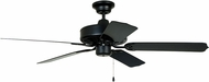 Craftmade WOD52MBK5P Cove Harbor Matte Black Outdoor 52 Home Ceiling Fan