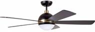 Emerson Ceiling Fans CF235BQ Astor Contemporary Barbeque Black with Satin Gold Accents LED 52 Home Ceiling Fan