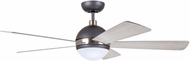Emerson Ceiling Fans CF235GRT Astor Contemporary Graphite with Brushed Steel Accents LED 52 Home Ceiling Fan