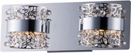 ET2 E20332-20PC Tiara Contemporary Polished Chrome LED 2-Light Bathroom Lighting