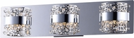 ET2 E20333-20PC Tiara Modern Polished Chrome LED 3-Light Lighting For Bathroom