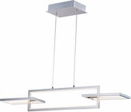 ET2 E20354-SN Link Contemporary Satin Nickel LED Island Lighting