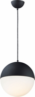 ET2 E20366-92BK Half Moon Modern Black LED Mini Drop Ceiling Lighting