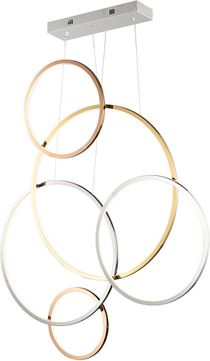 ET2 E20375-MPLT Union Contemporary Gold and Silver LED Multi Hanging Lamp
