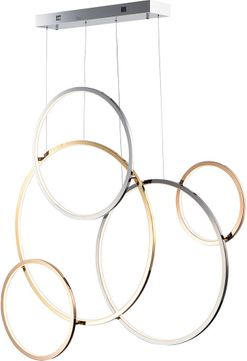 ET2 E20377-MPLT Union Contemporary Gold and Silver LED Multi Hanging Light