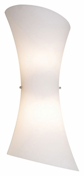 ET2 E20412-09 Conico Contemporary 20 Inch Tall 2 Lamp Opal White Glass Wall Sconce Lighting Fixture