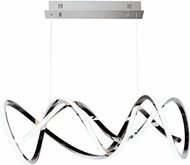 ET2 E20468-BC Signature Contemporary Black Chrome LED Kitchen Island Light