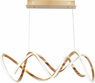 ET2 E20468-BCN Signature Modern Brushed Champagne LED Island Lighting