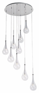 ET2 E20515-18PC Larmes LED Contemporary Polished Chrome Finish 22  Wide Multi Drop Lighting Fixture
