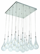 ET2 E20517-18PC Larmes LED Contemporary Polished Chrome Finish 19  Wide Multi Pendant Light