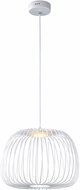 ET2 E20573-WT Cage Modern White LED 16  Hanging Lamp