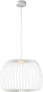 ET2 E20575-WT Cage Contemporary White LED 20  Hanging Light