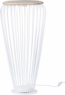 ET2 E20576-WTNW Cage Modern White / Navaho White LED Indoor / Outdoor Floor Lamp