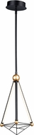 ET2 E20591-BKGLD Spire Modern Black / Gold LED Mini Pendant Lighting