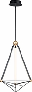 ET2 E20592-BKGLD Spire Contemporary Black / Gold LED 17  Pendant Light
