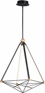 ET2 E20594-BKGLD Spire Modern Black / Gold LED 27  Lighting Pendant