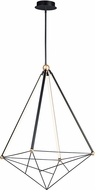 ET2 E20596-BKGLD Spire Contemporary Black / Gold LED 35  Pendant Lamp