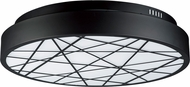 ET2 E20643-61BK Intersect Contemporary Black LED 16  Ceiling Light Fixture