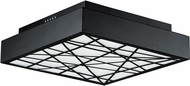 ET2 E20645-61BK Intersect Modern Black LED 23.5  Ceiling Lighting Fixture