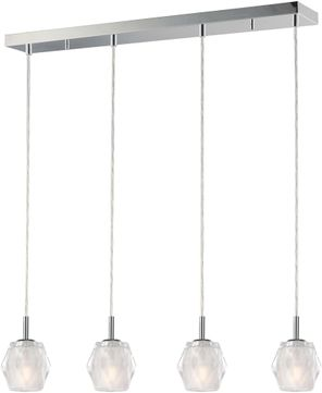 ET2 E20714-82PC Tangent Modern Polished Chrome LED Multi Pendant Lamp