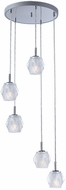 ET2 E20715-82PC Tangent Contemporary Polished Chrome LED Multi Drop Lighting Fixture