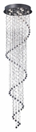 ET2 E20797-20 Cascada Hanging Crystal Spiral 97 Inch Tall Polished Chrome Halogen Ceiling Light Fixture