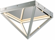 ET2 E20810-PC Pyramid Modern Polished Chrome LED 12  Ceiling Lighting