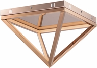 ET2 E20810-RG Pyramid Contemporary Rose Gold LED 12  Ceiling Light