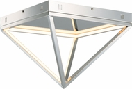 ET2 E20811-PC Pyramid Modern Polished Chrome LED 16  Ceiling Light Fixture