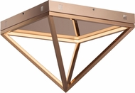 ET2 E20811-RG Pyramid Contemporary Rose Gold LED 16  Ceiling Lighting Fixture
