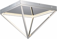 ET2 E20812-PC Pyramid Modern Polished Chrome LED 20  Ceiling Light Fixture