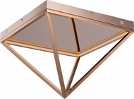 ET2 E20812-RG Pyramid Contemporary Rose Gold LED 20  Flush Lighting