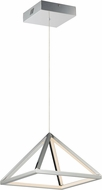 ET2 E20815-PC Pyramid Modern Polished Chrome LED 12  Hanging Pendant Lighting