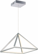 ET2 E20816-PC Pyramid Modern Polished Chrome LED 16  Pendant Hanging Light