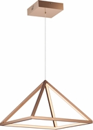 ET2 E20816-RG Pyramid Contemporary Rose Gold LED 16  Hanging Light Fixture