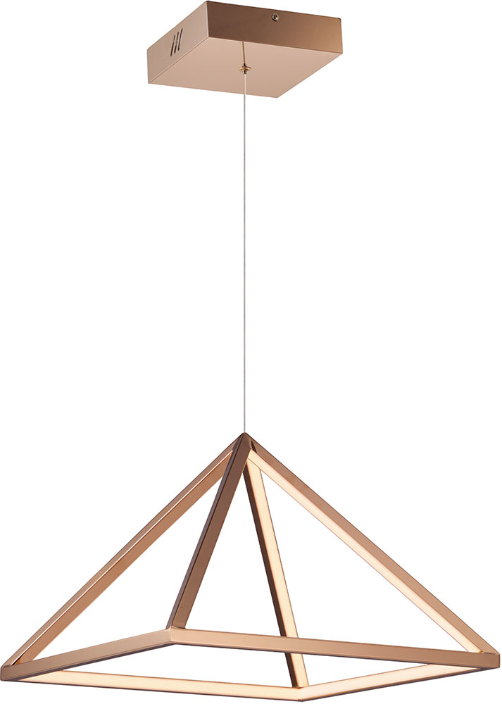 Et2 E20816 Rg Pyramid Contemporary Rose Gold Led 16 Nbsp Hanging Light Fixture Loading Zoom
