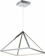 ET2 E20817-PC Pyramid Modern Polished Chrome LED 20  Drop Lighting