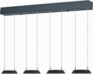 ET2 E20903-BK Quantum Contemporary Black LED Multi Pendant Light