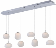 ET2 E21125-11WT Puffs Modern Bronze LED Multi Pendant Hanging Light