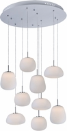 ET2 E21127-11WT Puffs Contemporary Matte White LED Multi Hanging Light Fixture